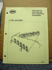 Vicon H 1350 Series 59004 Rotary Rake Spare Parts List Manual #6