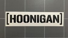Hoonigan Sticker Gloss Black Vinyl Avery Graphics