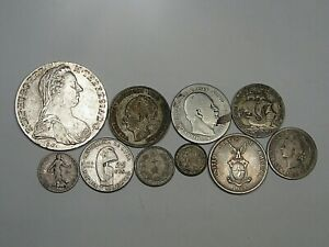10 Mixed Silver World/Foreign Coins 83.8 grams.  #34