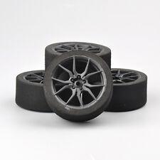 4 X For 1/10 On-road RC Car 12mm Hex Unique Foam Tires& Wheel Rims Set 23003