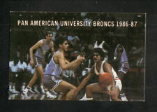 Pan American Broncs--1986-87 Basketball Pocket Schedule--Dr Pepper