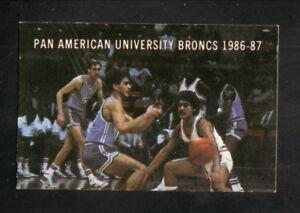 Pan American Broncs--1986-87 Basketball Pocket Schedule--Dr Pepper