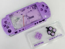 E Purple Full Housing Shell Case Cover Faceplate Buttons f Sony PSP3000 PSP 3000
