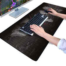 ✔ MOUSEPAD TAPPETINO XXL 900x400x3mm Mappa del Mondo MOUSE TAPPETO LAPTOP GAMING