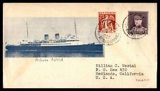 Belgium Princess Astrid Ship 1931 Illustrated Cover to Redlancs CA