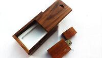 Photography Walnut Wood 32GB USB Flash Drive Wooden 32G Pen Stick Wood Gifts Box