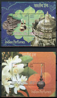 India Stamps 2019 MNH Perfumes Part II Perfume Scented Flowers Flora 2x 2v M/S