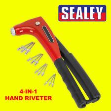 Sealey AK996 4 en 1 kit mano remachadora Trabajo Garaje Suran Remache Herramienta