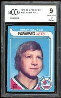1979-80 O-Pee-Chee #185 Bobby Hull Card BGS BCCG 9 Near Mint+