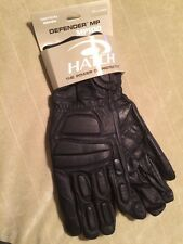 Hatch Defender MP100 L Leather Biker made w Kevlar Gloves Riot Police Tactical