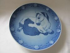 Royal Copenhagen Mother Horse & Her Young One foal 1984 plate