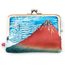 Red Mount Fuji Japanese Coin Purse