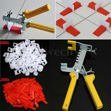 701 Tile Leveling System 200x+500x Clips Wedges+ 1x Plier Floor Spacer Tiling US