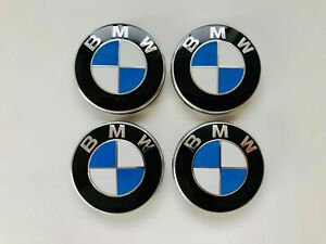 4x Original BMW 68mm NABENDECKEL NABENABDECKUNGEN NABENKAPPE FELGENDECKEL EMBLEM