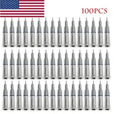 100 Pack NSK Style Dental Slow Low Speed Handpiece Straight Nose Cone E-type ypu