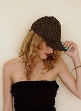 New Cap Dad Hat Leopard Print Brown & Black Cougar Panther Feline RUDE BELLE