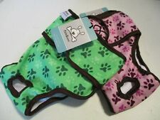 CuteBone Dog Diapers Female Reusable 2 Pack for Doggie in Medium Paw Print (New)