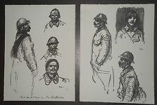 """STEINLEN (1859/1923)  LOT  - """" SOLDATS DE LA GRANDE GUERRE """"  - Signé"""