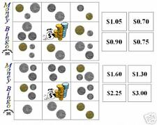MONEY/COIN BINGO - educational teacher resource MATHS