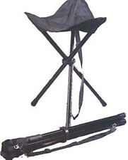 Rothco 4584 Black Collapsible Stool - Folds to 3 inch Diameter