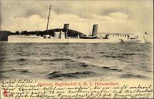 1904 Marine Depeschenboot SLEIPNER seltene AK ab GLÜCKSBURG n/ Chemnitz gelaufen