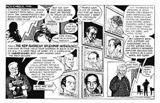 R. CRUMB HARVEY PEKAR AMERICAN SPLENDOR ANTHOLOGY 1991 PROMOTIONAL POSTCARD