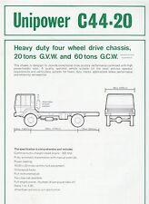 Unipower C44 20 Datenblatt data sheet 4 1979 Prospekt Technische Daten LKW Auto