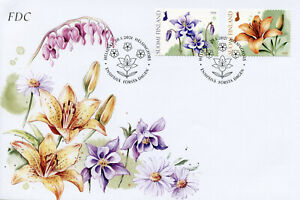 Finland Stamps 2021 FDC Congratulate with Flowers Nature Flora 2v S/A Set