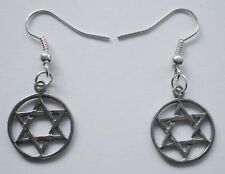Earrings #2351 Pewter Tiny Star Of David (18mm x 15mm)
