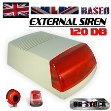 EXTERNAL SIREN BELLBOX WITH STROBE 120 dB 12-15 VDC / SECURITY ALARM SYSTEM/CCTV