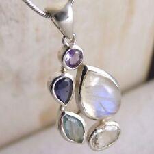 Handmade Moonstone Not Enhanced Fine Necklaces & Pendants