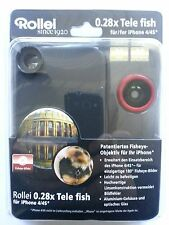 ROLLEI 0.28X fisheye pour APPLE IPHONE 4/4S rouge