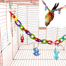Birds Swing Cage Toys Hanging Toy Climbing Ladder For Parakeet Cockatiel Ca