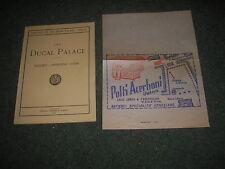 DUCAL (DOGES) PALACE VENICE-TOUR GUIDE+LEAFLET FOR POLTI ACERBONI S. MARCO 1955