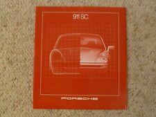 1981 Porsche 911 SC DELUXE Showroom Advertising Sales Brochure RARE!! Awesome