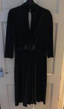 Phase Eight Black Midi Evening Party Dress Size 14