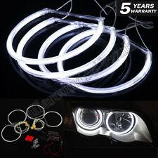 131MM White Halo Ring Cotton Light SMD LED Angel Eyes For BMW E36 E38 E39 E46 US