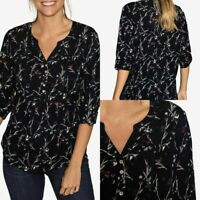 Ex  FAT FACE  POPPY FLORAL POPOVER TOP NOW £14.99 + 3.99 Delivery!     (B139)