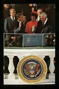 Presidential Political People postcard Jimmy Carter Walter Mondale Tip O'Neill
