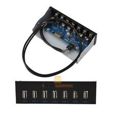 """7 USB 2.0 Port Hub 5Gbps For 5.25"""" CD-ROM Drive Bay Front Panel Disk Bay"""