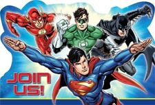 8 DC Comics Justice League Children's Party Invitations Invites plus Envelopes
