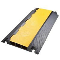 3 Channel Rubber Cable Protector Ramp Electrical Wire Cable Cover Ramp Guard