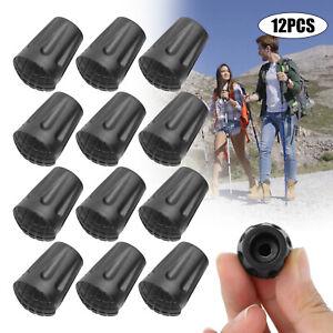 12pcs 11mm Spare Walking Stick Trekking Hiking Pole Rubber Ferrule Tips End Cap
