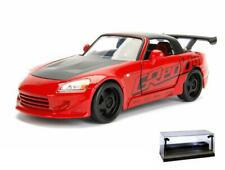 DIECAST CAR W/LED DISPLAY CASE 2001 HONDA S2000 RED JADA 98559DP1 1/24 SCALE