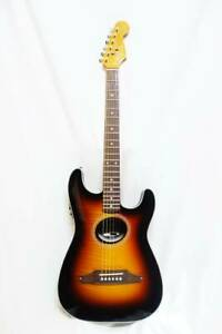 Used Fender STRATACOUSTIC PREMIER 3TS Acoustic Electric Guitar Flame Maple Top