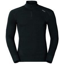 Odlo Mens Black Long Sleeve Half Zip Turtle Neck Warm Running Sports Top L