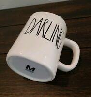 Rae Dunn DARLING Magenta M Stamped Coffee Mug Rare
