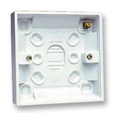 32mm Single 1 Gang Surface Mount Slim Pattress Back Box Wall Socket Light Switch