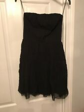 Kookai Black Silk Dress Size 40 UK 12