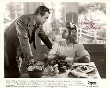 P046 DOROTHY MCGUIRE signed TV 8.25x10 still R50s close up with Robert Young